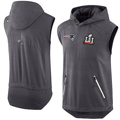 9b198d30 New England Patriots Nike Super Bowl LI (51) Bound Media Day Pregame Vest  Medium