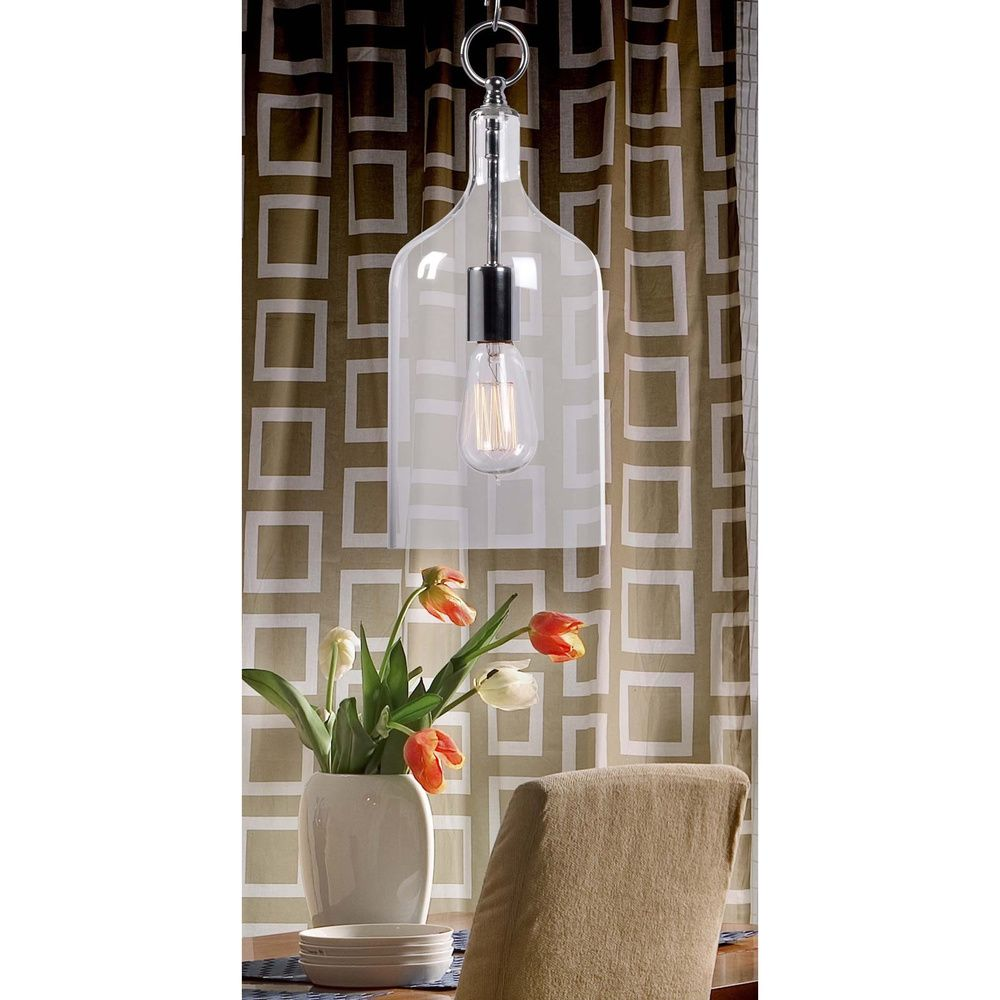 Design craft corsica chrome light mini pendant by design craft