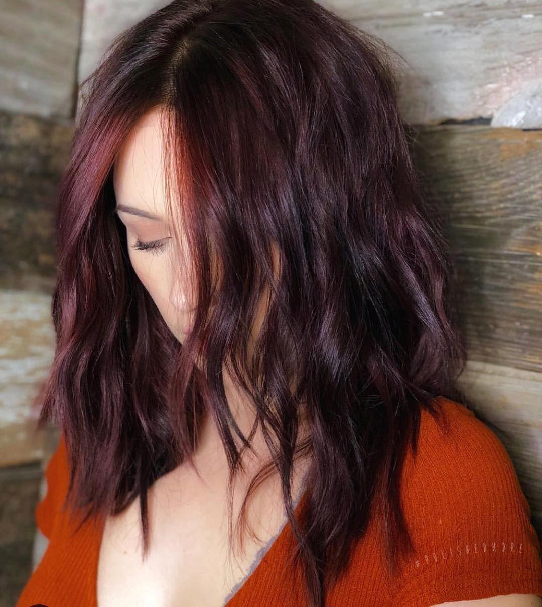 33 Stunning And Mystique Dark Red Hairstyles Burgundy Hair