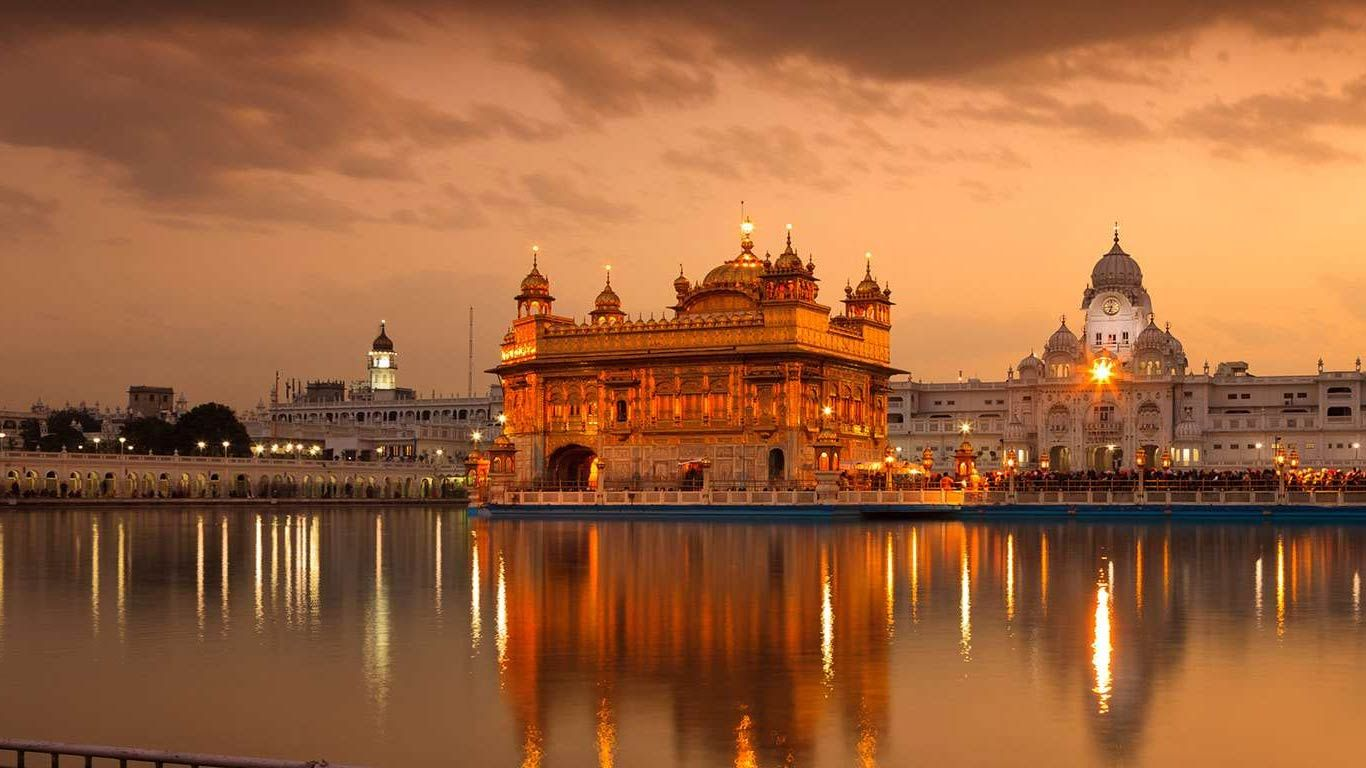 golden temple hd wallpaper 1366x768 | temple architecture