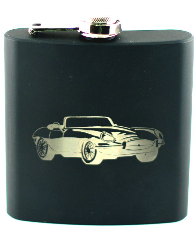 Engraved Hip Flask Classic Cars Gift Set Can Be Personalised