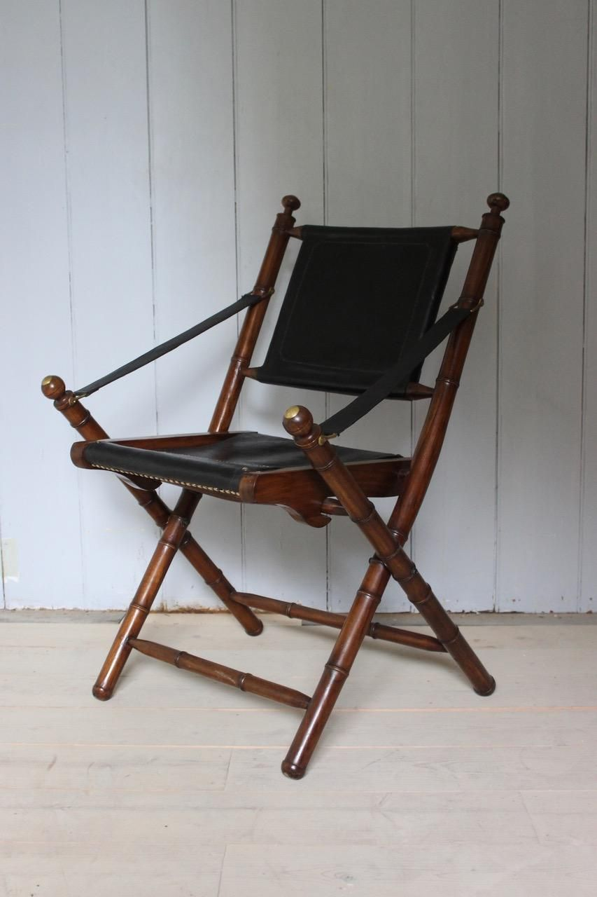 Phenomenal 1970S French Folding Chair In Leather Projects Folding Caraccident5 Cool Chair Designs And Ideas Caraccident5Info