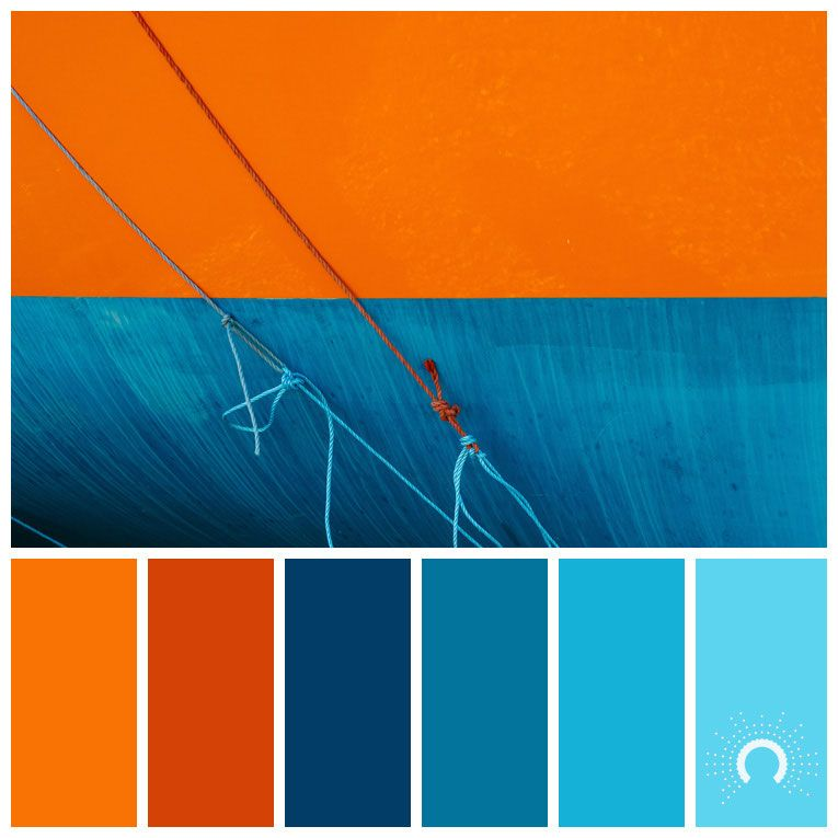 Color palette no 200 color moods in 2019 - Blue and orange color scheme for living room ...