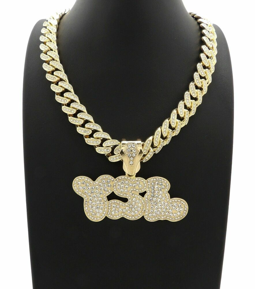 71ce73a95cf ICED OUT YOUNG STUNNA LIFE PENDANT MIAMI CUBAN LINK CHAIN NECKLACE GOLD HIP  HOP #nyknickknacks #YOUNGTHUG #YSL #YOUNGSTUNNALIFE #GOLDNECKLACE