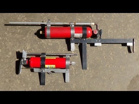This Is My Homemade Compressed Air Rifle Shooting Blowgun Darts Simple Unit Very Powerful And Was Made From A Fire Extinguisher Other Easy