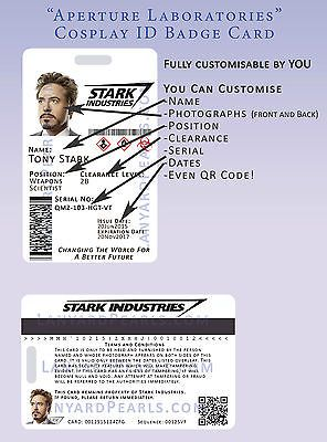 Stark Industries Id Badge Iron Man Cosplay Cards Unisex Map