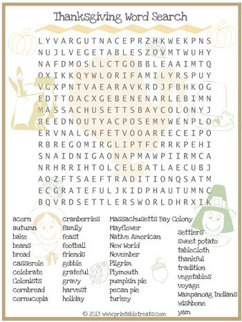 picture regarding Printable Thanksgiving Wordsearch identified as Thanksgiving Term Appear for Children Printable in opposition to