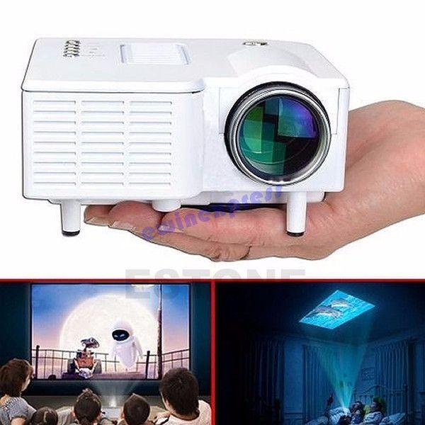 Portable mini projector hd1080p for home mini theater for Small tv projector