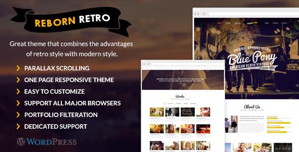Reborn Retro - One Page WordPress Theme