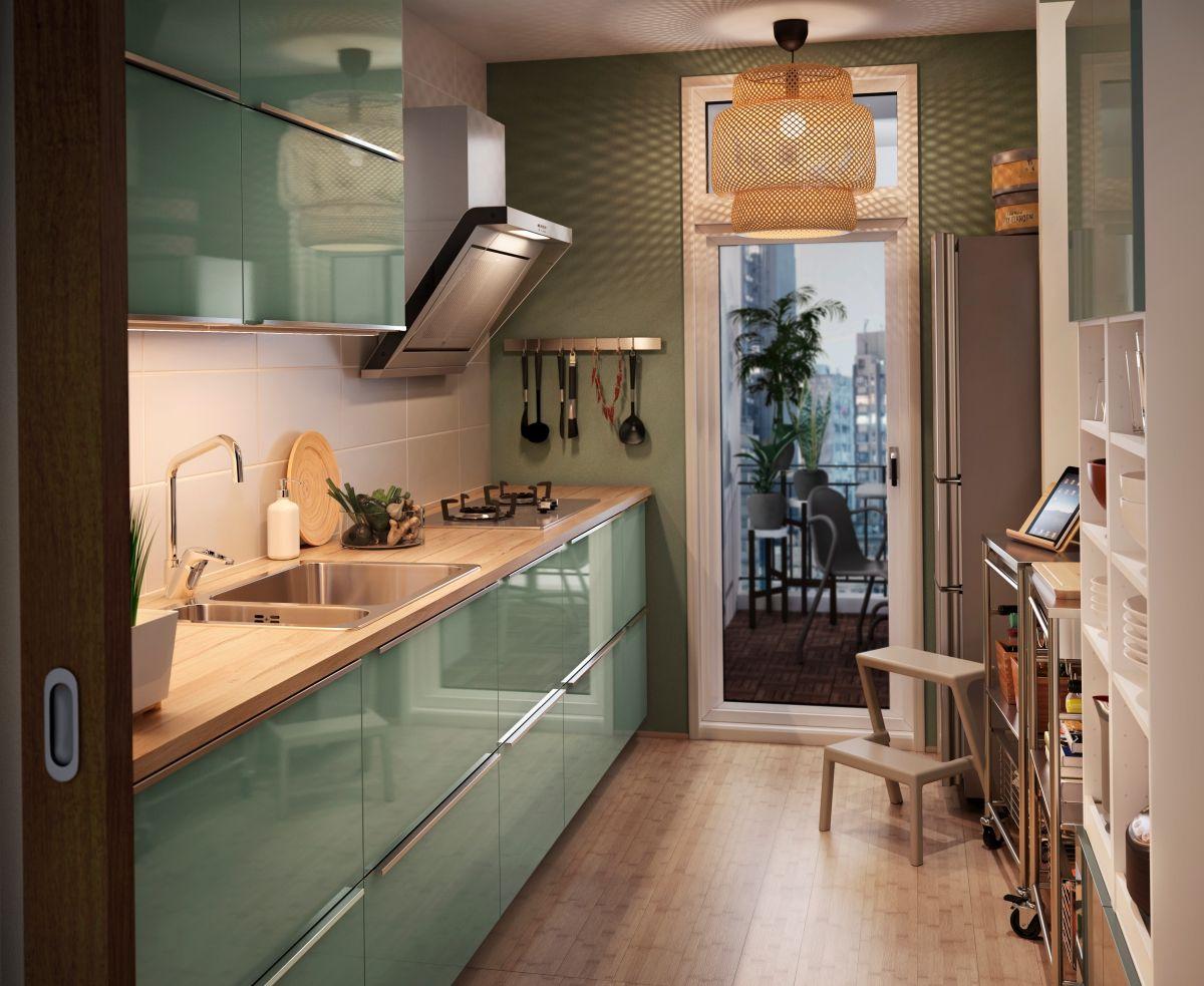 Zielona Nowowczesna Kuchnia Ikea Mała Kuchnia W 2019