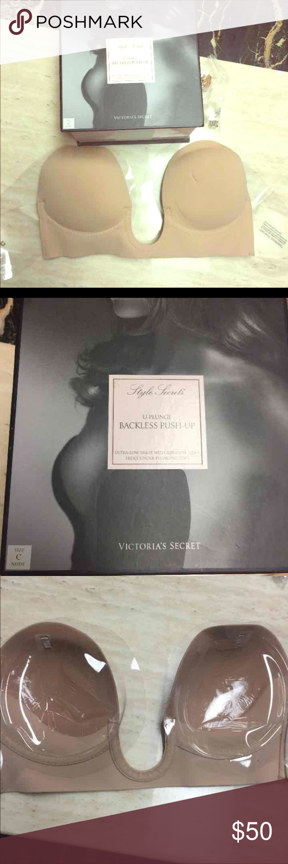 VS Backless push up NWT! Nude color backless bra. No trade. C-cup. Victoria's Secret Intimates & Sleepwear Bras