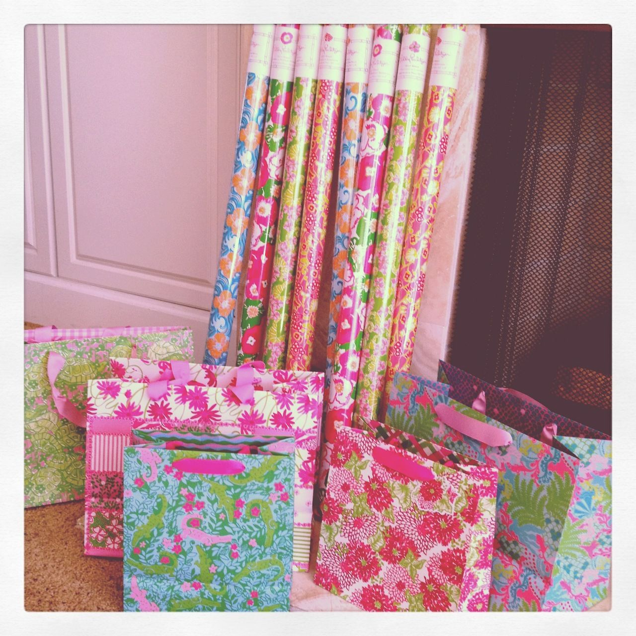 Lilly Paper and Bags - Just getting the bag would make this the most amazing present ever