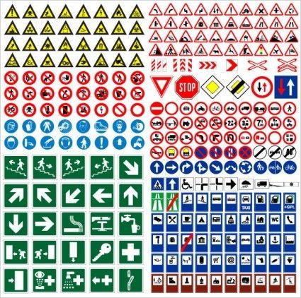road traffic signs vector | Design Tools | Pinterest | Signs ...