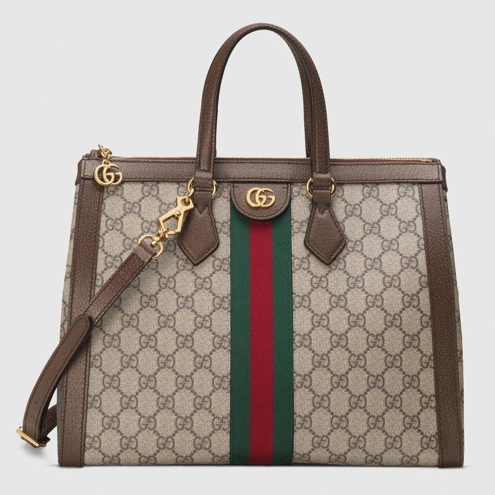 4cb24de50bb Shop the Ophidia GG medium top handle bag by Gucci. Imbued with  retro-inspired references