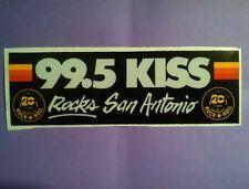Vintage 99 5 Kiss Fm San Antonio Tx 20th Anniv Bumper Sticker