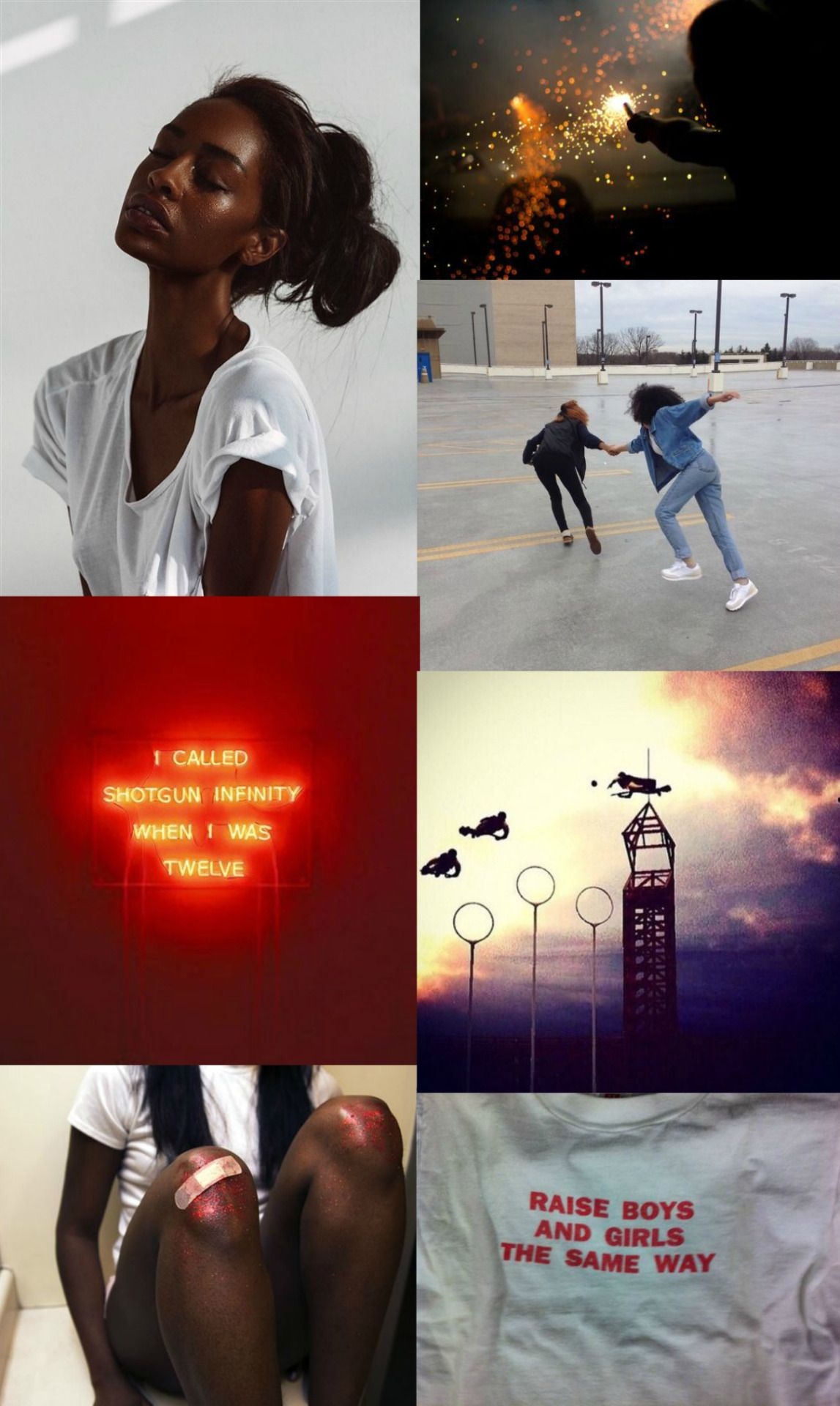 """Angelina Johnson aesthetic-  the girls of hogwarts:  """"And it's Johnson — Johnson with the Quaffle, what a player that girl is, I've been saying it for years but she still won't go out with me —"""""""