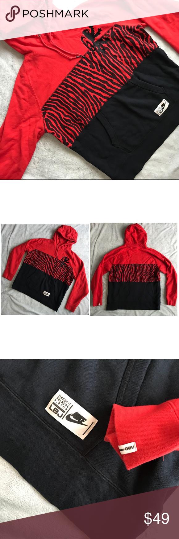 Nike Lbj Lebron James Safari Hooded Sweatshirt Hooded Sweatshirts Sweatshirts Hoodie Print [ 1740 x 580 Pixel ]