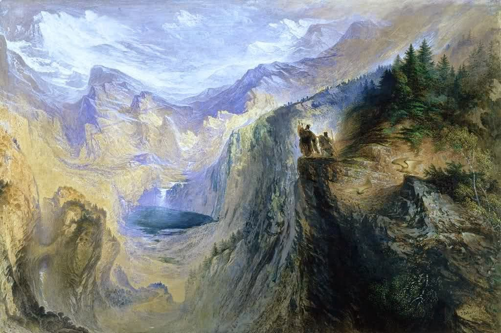 Le Prince Lointain: John Martin (1789-1854), Manfred on the Jungfrau -...