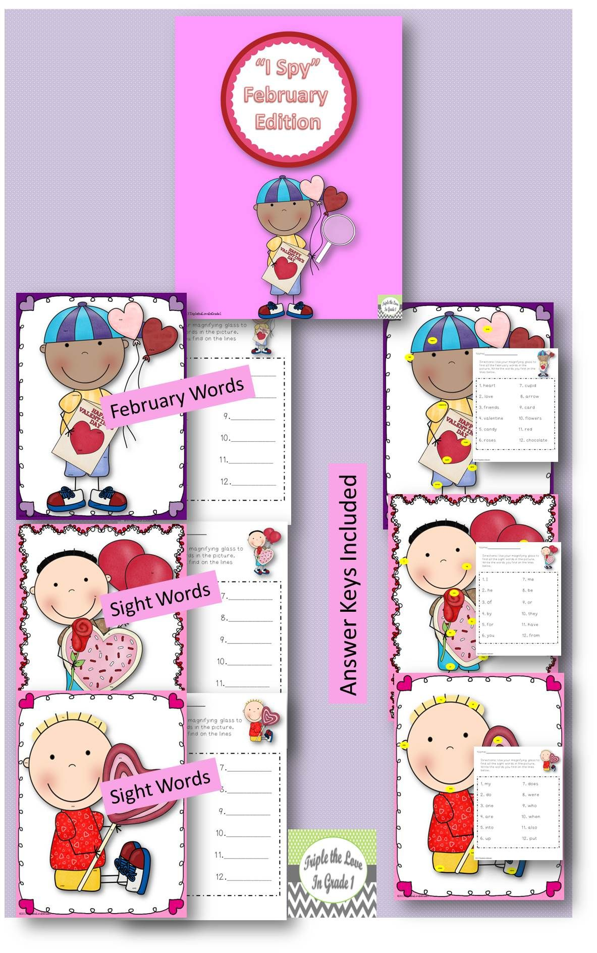 Look And Find February Edition Sight Words