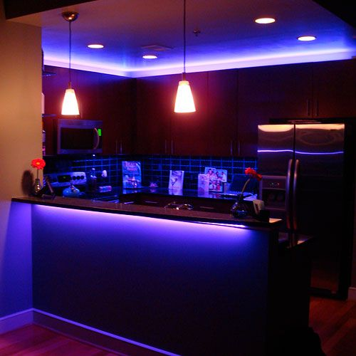 Led Lights In Kitchen Cabinets: RGB LED Kitchen Accent Lighting In 2019