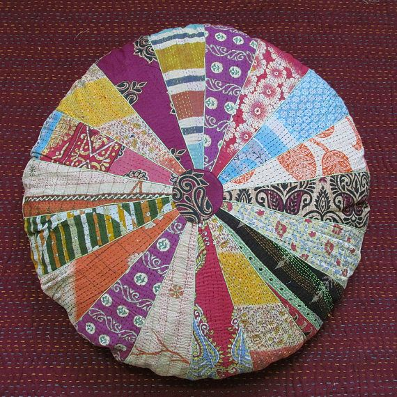 28 Inch Large Round Pouf Cover Pillow, Round Floor Pillows, Pouf ...