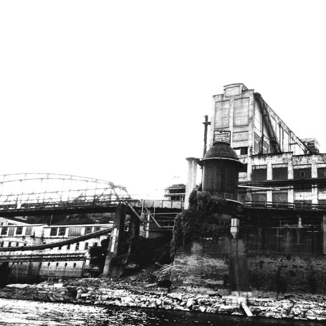 Abandoned Paper Mill Flanking Willamette Falls In Portland Oregon