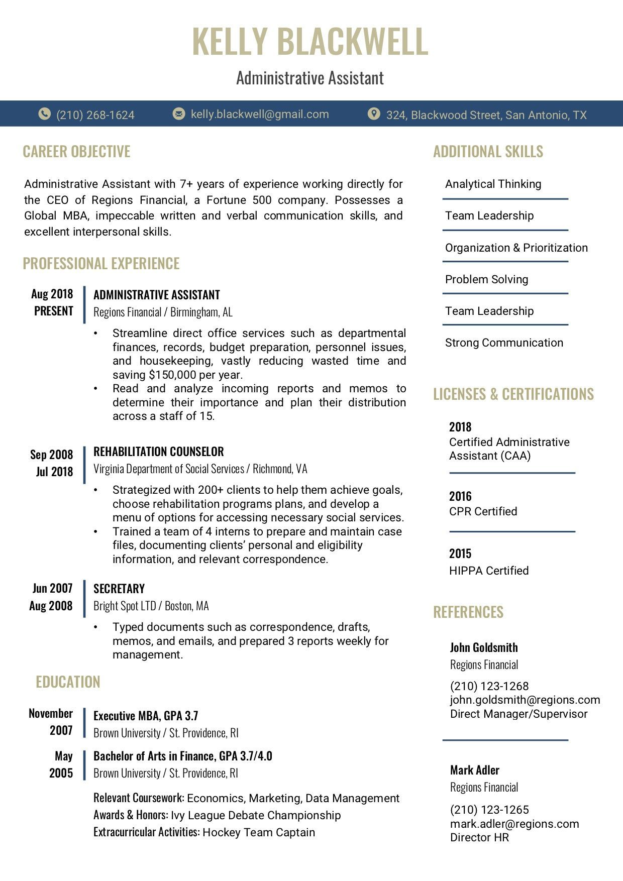 Resume Template 2E RC Resume templates, Resume