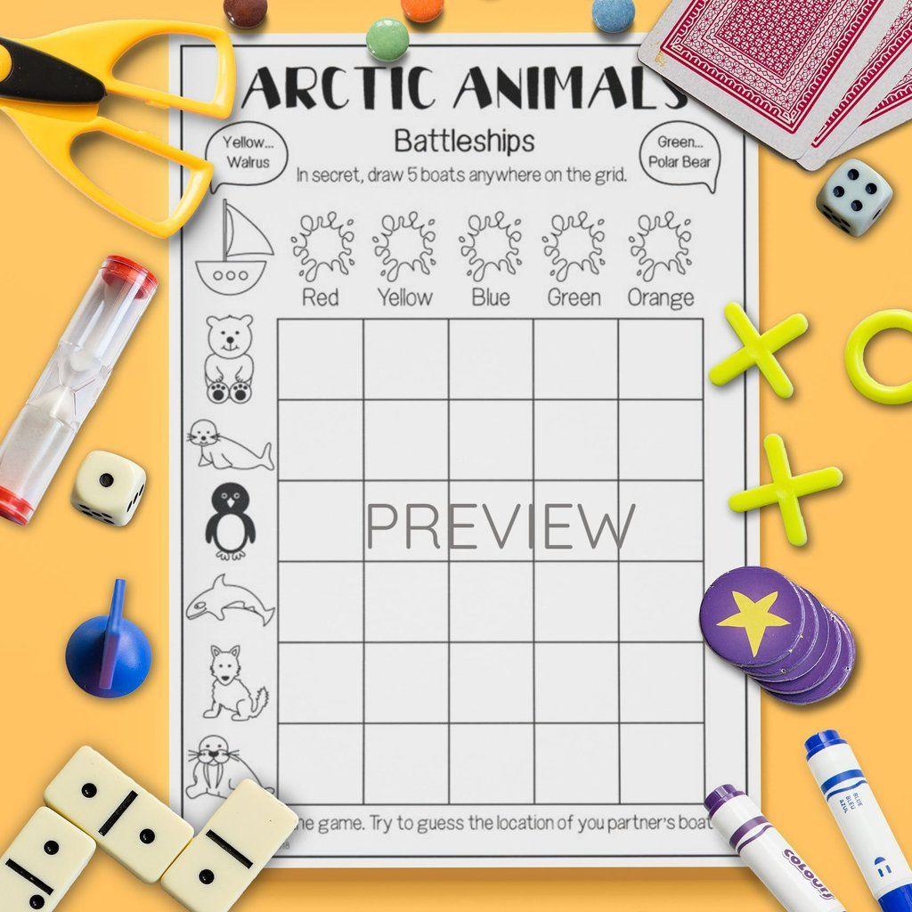 Arctic Animals Battleships Game
