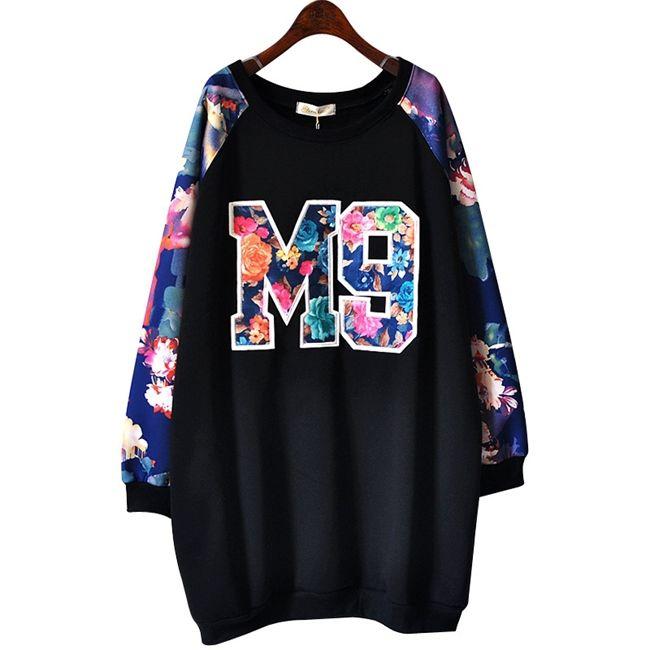 Cheap Hip Hop BF Moda M9 Número Carta Flora Silvestres de impresión más el  tamaño de invierno de las mujeres del vestido ocasional 2015 AG1520 38191122fa0