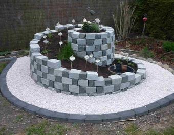 Kr uterspirale garten mauern stein gartengestaltung bepflanzung bauen - Schrebergarten anlegen ...