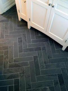 May Property Services More Chevron For The Bath Herringbone Tile Floors Slate Bathroom Herringbone Floor