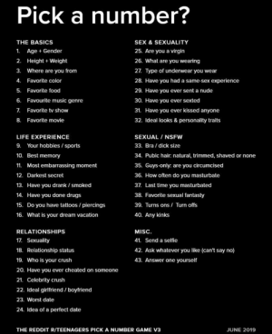 Pick a Number? THE BASICS SEX & SEXUALITY 25 Are Y