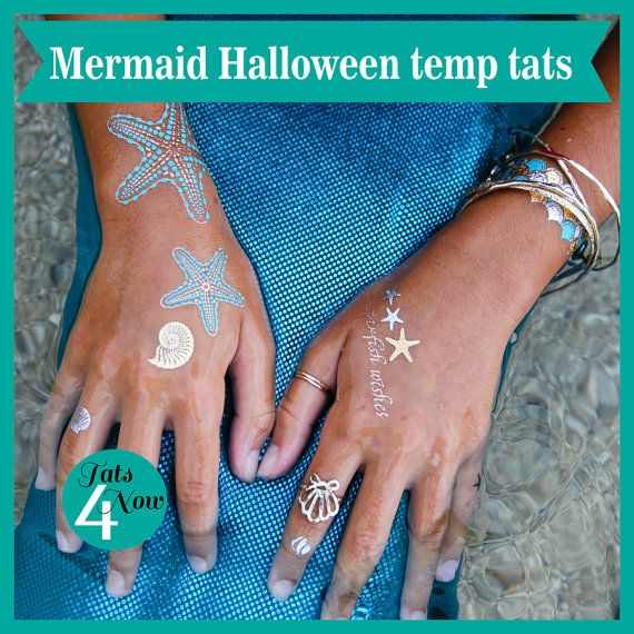 24 Henna Tattoos By Rachel Goldman You Must See: Mermaid,Halloween Costume,Temporary Tattoos,Halloween Idea