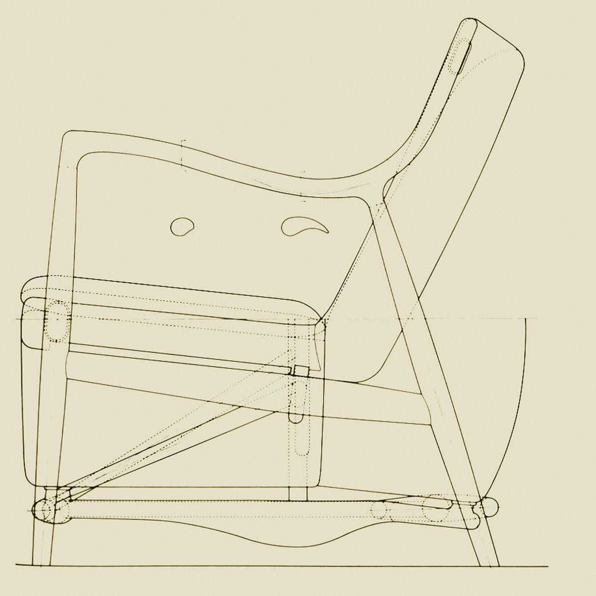 Modern Furniture Drawings 45 chair drawing of finn juhl | finn juhl | pinterest