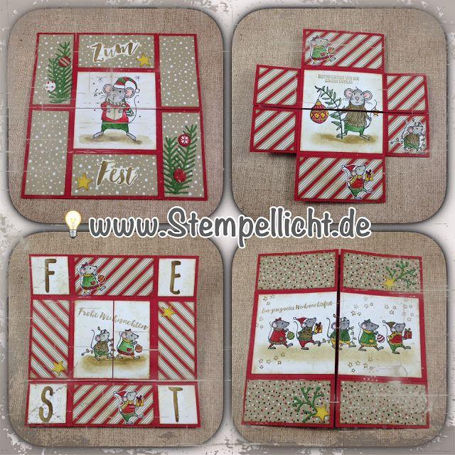 Stempellicht: Endloskarte weihnachtlich mit Zuckerstangenzauber ...