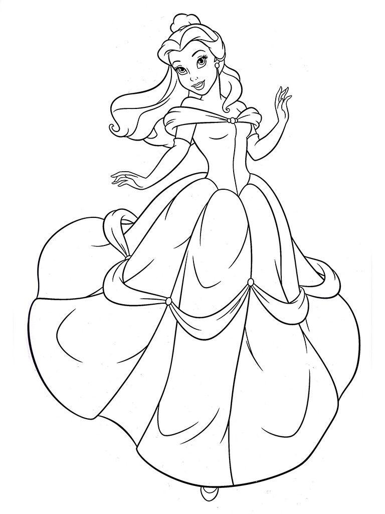 раскраски для девочек распечатать бесплатно принцессы