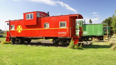 Red Caboose Getaway, Sequim, Washington.   this locomotive lodging offers guests the chance to stay in one of six themed caboose cars outfitted amenities such as hot tubs to ease away the worries of the road.  We passed this many times when we lived in Washington, but never got to stay there. :<3 (