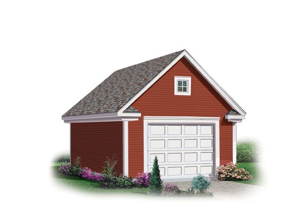 This One Stall Garage Is A Perfect Addition To Your Home With Its Charming Decorative Moldings