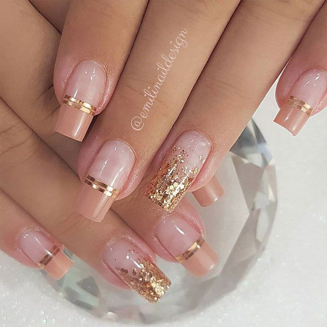 100 Beautiful wedding nail art ideas for your big day  Hair Nails and Makeup