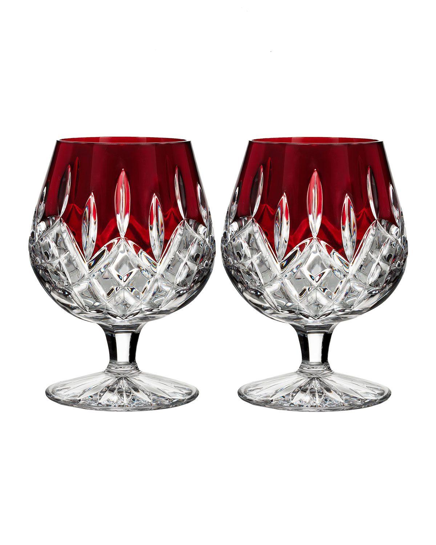 Waterford Crystal Lismore Brandy Glasses Set Of 2 Waterford Crystal Lismore Waterford Crystal Crystal Glassware