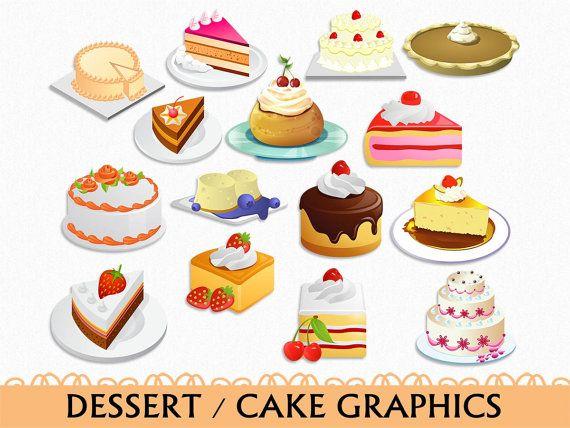 Admirable Cake Graphics Birthday Cake Clipart Food Clipart Digital Download Funny Birthday Cards Online Inifodamsfinfo