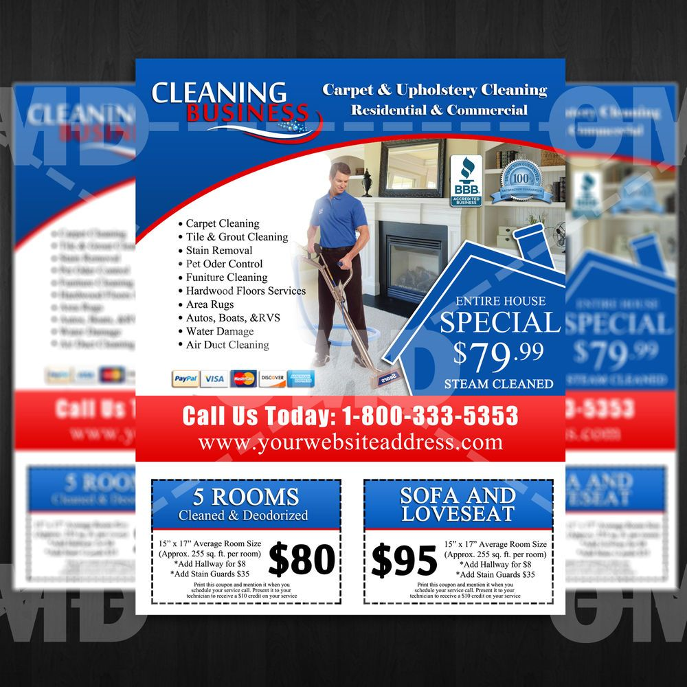 Carpet cleaning marketing flyer custom marketing design for Craigslist real estate ad templates