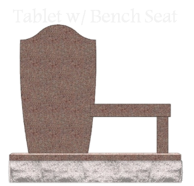 tablet with bench pinna monuments headstones memorials and urns