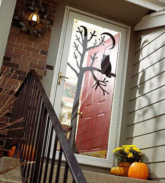Homemade-halloween-door-decoration-ideas Halloween party Ideas