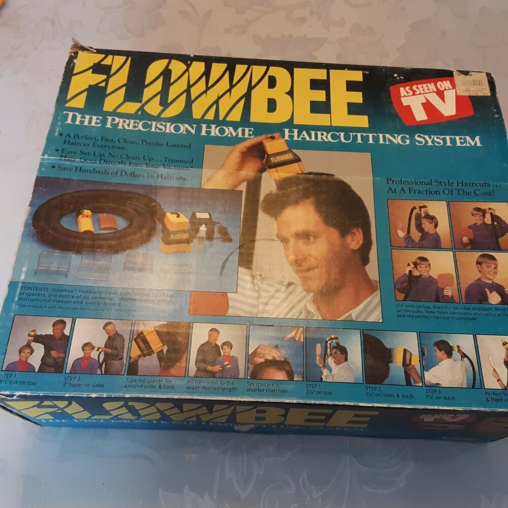 Flowbee The Precision Home Haircutting System Used Vintage Flowbee In 2020 Vintage Flowbee Haircuts System