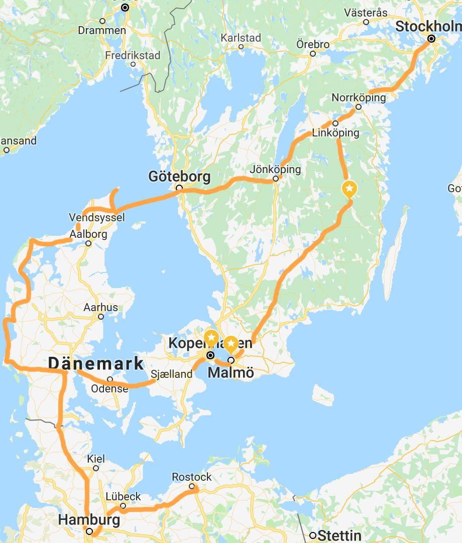 karte von dänemark und schweden Roadtrip: Dänemark und Schweden   Mango Mornings by Annischmou