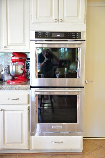 KitchenAid 27 In. Double Electric Wall Oven Self Cleaning With Convection  In Stainless Steel