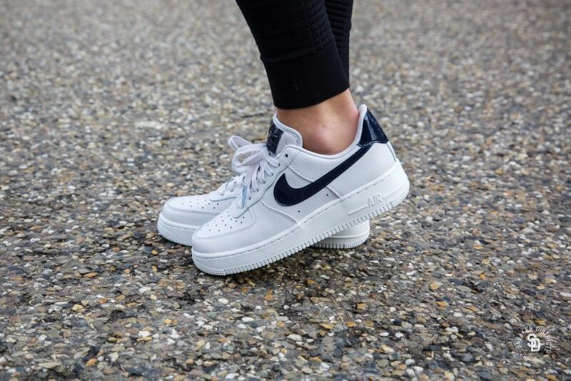 promo code 9a051 5bd6c Nike Women s Air Force 1  07 Vast Grey Obsidian-Summit White - AH0287-002