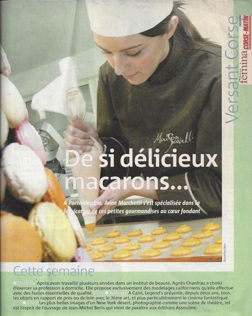 """Femina - décembre 2009, """"De si délicieux macarons  ..."""""""