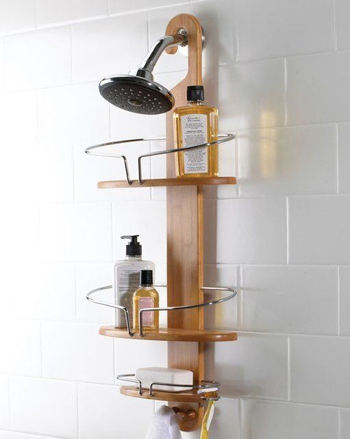 Bamboo Shower Caddy Design In 2019 Rack